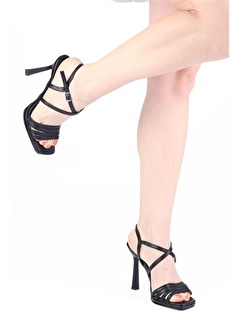 Modabuymus Modabuymus Çapraz Bantlı Platform Topuklu Ayakkabı - Seul